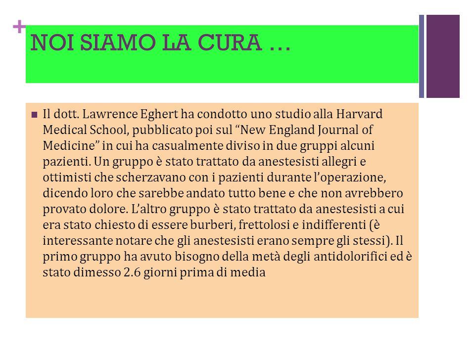 + NOI SIAMO LA CURA … Il dott.