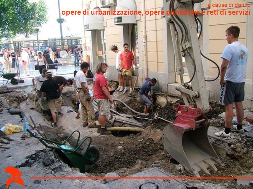 opere di urbanizzazione, opere pubbliche e reti di servizi la cause di danno