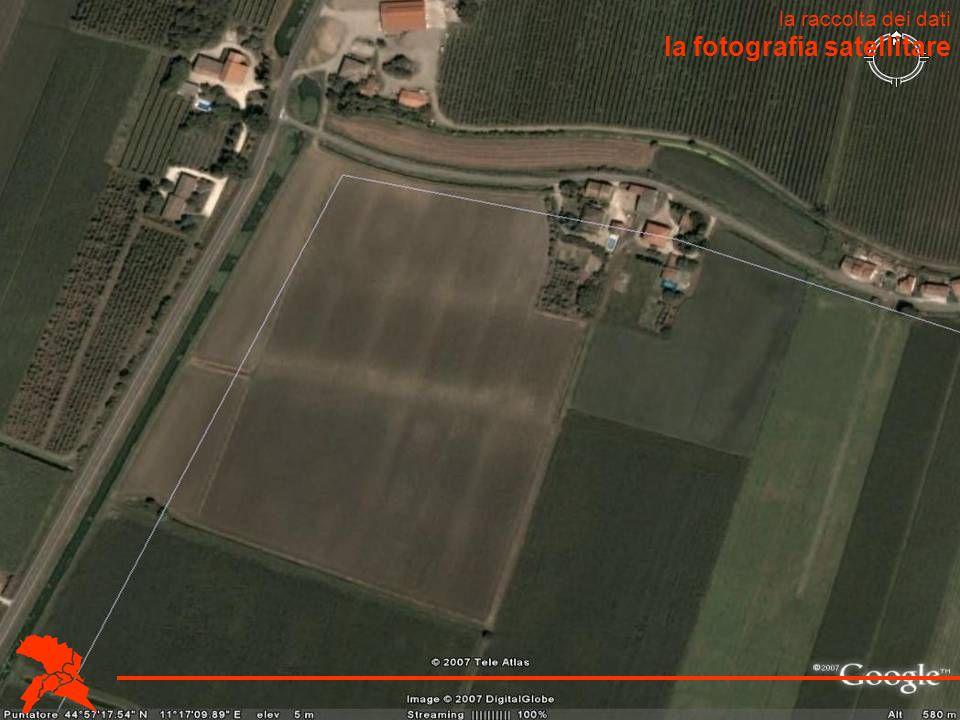 la fotografia satellitare la raccolta dei dati