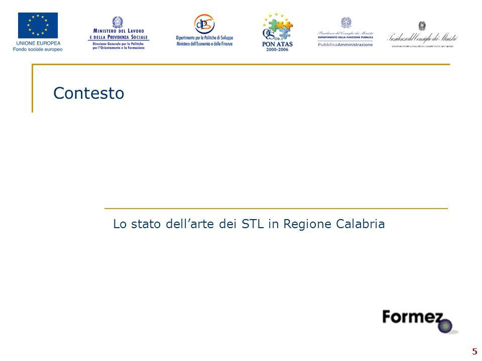 5 Contesto Lo stato dell'arte dei STL in Regione Calabria