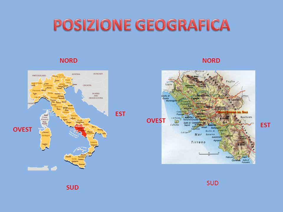 COLLINA 51% MONTAGNA 34% PIANURA 15% La parte più interna della regione è occupata dall' Appennino Campano e Lucano.