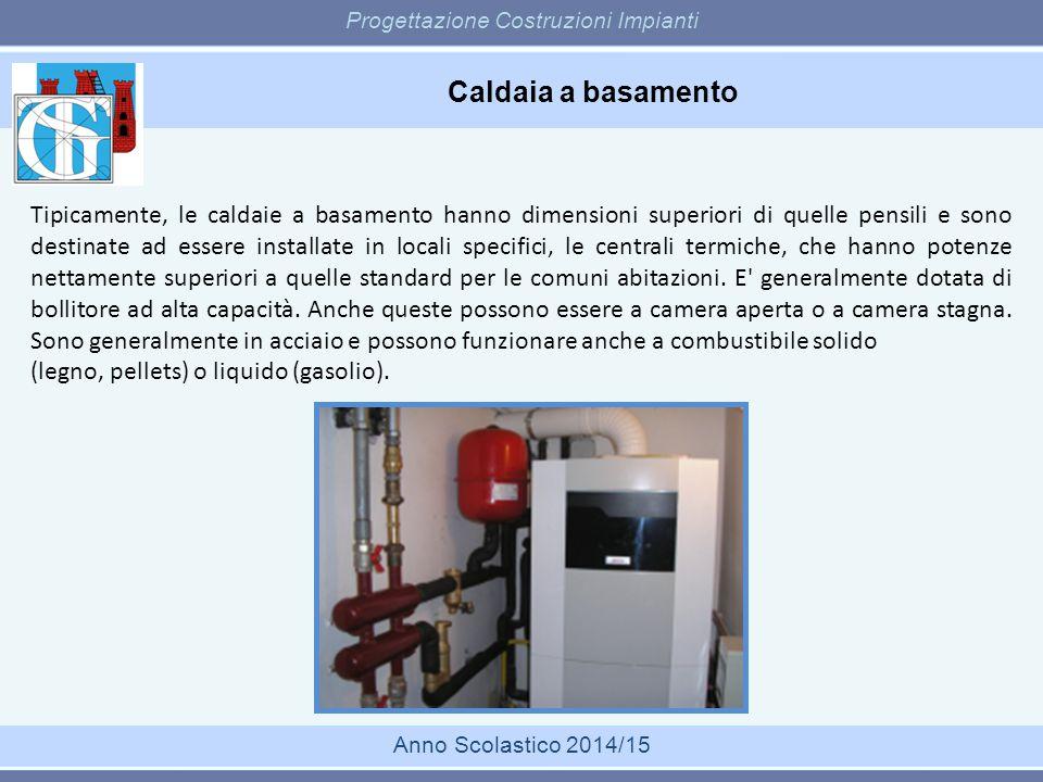 Caldaia a basamento Progettazione Costruzioni Impianti Anno Scolastico 2014/15 Tipicamente, le caldaie a basamento hanno dimensioni superiori di quell