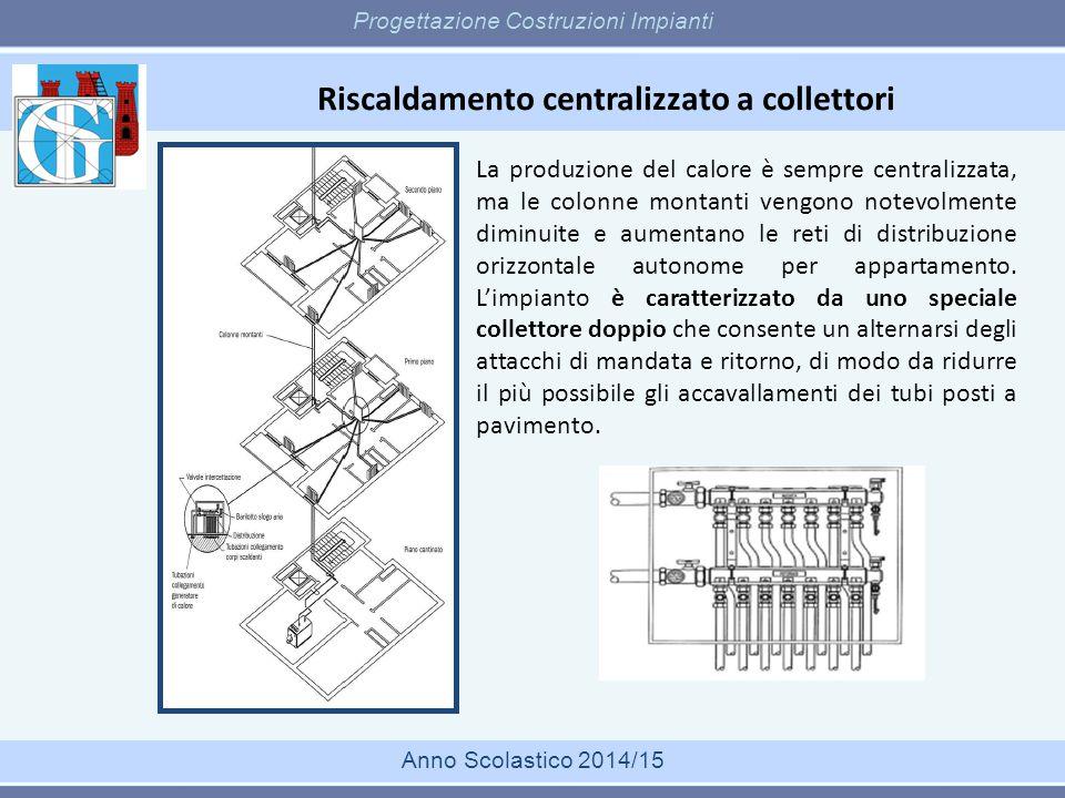 Riscaldamento centralizzato a collettori Progettazione Costruzioni Impianti Anno Scolastico 2014/15 La produzione del calore è sempre centralizzata, m