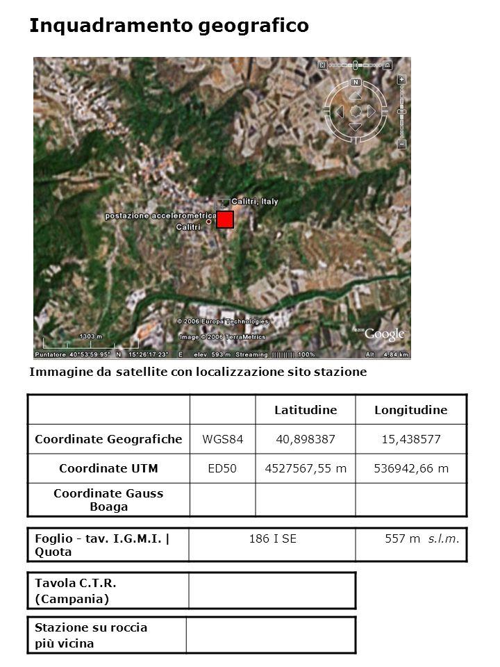 Dati acquisiti dalla stazione Stazione di CALITRI N° di registrazioni acquisite PGA max registrata [cm/s 2 ] Data evento in cui si è registrata il max valore di accelerazione 1166,51723/11/1980