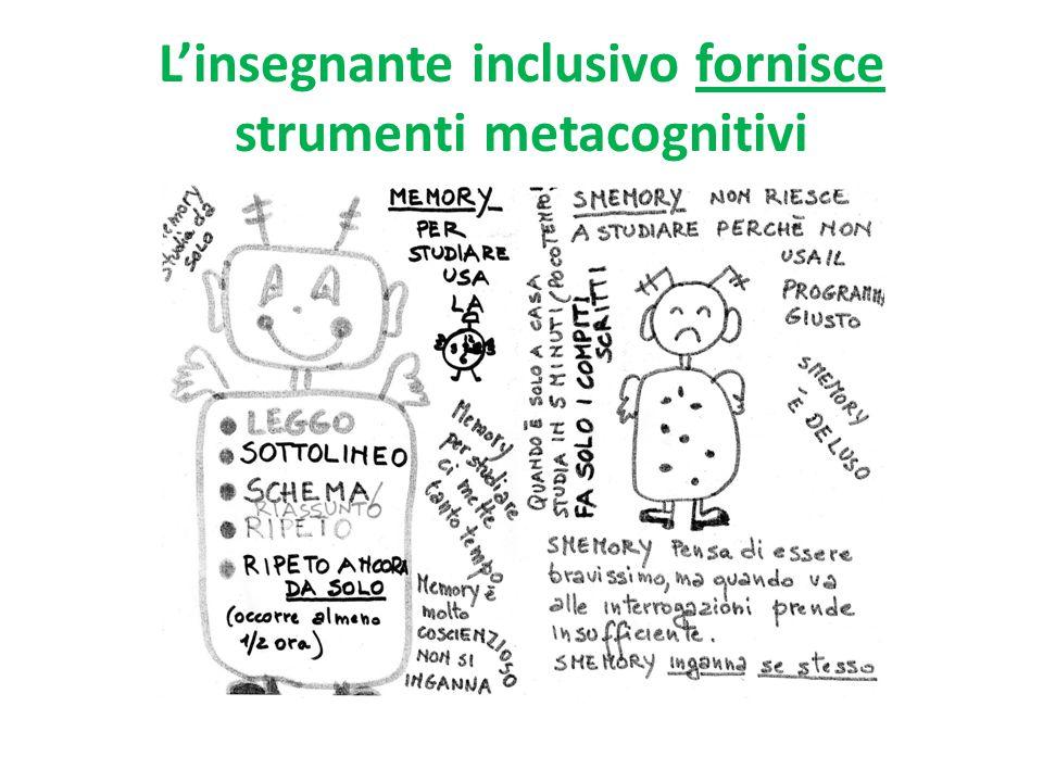 L'insegnante inclusivo fornisce strumenti metacognitivi