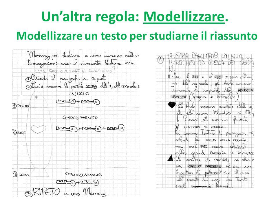 Un'altra regola: Modellizzare. Modellizzare un testo per studiarne il riassunto