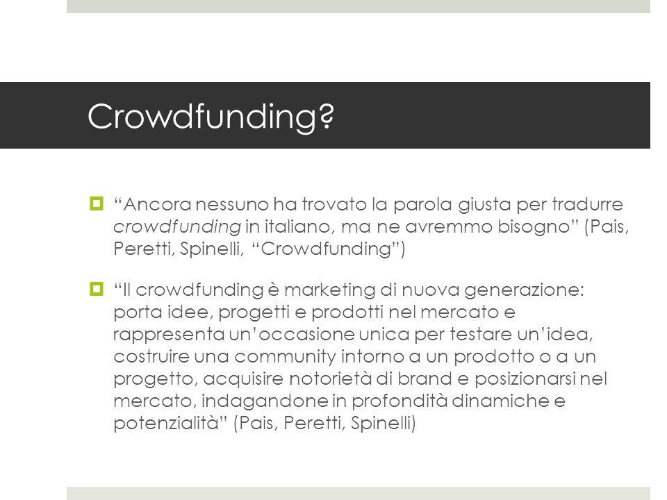 Crowdfunding.