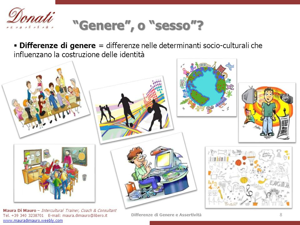 Maura Di Mauro – Intercultural Trainer, Coach & Consultant Tel. +39 340 3238701 E-mail: maura.dimauro@libero.it www.mauradimauro.weebly.com Differenze