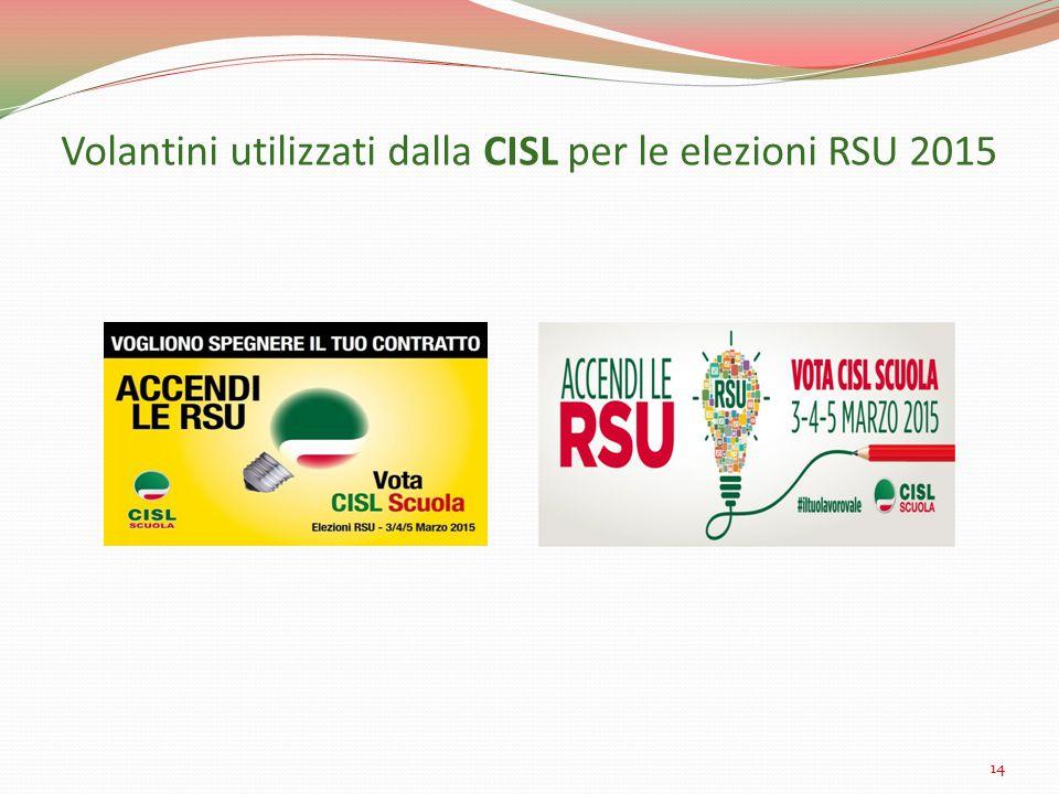 Volantini utilizzati dalla CISL per le elezioni RSU 2015 14