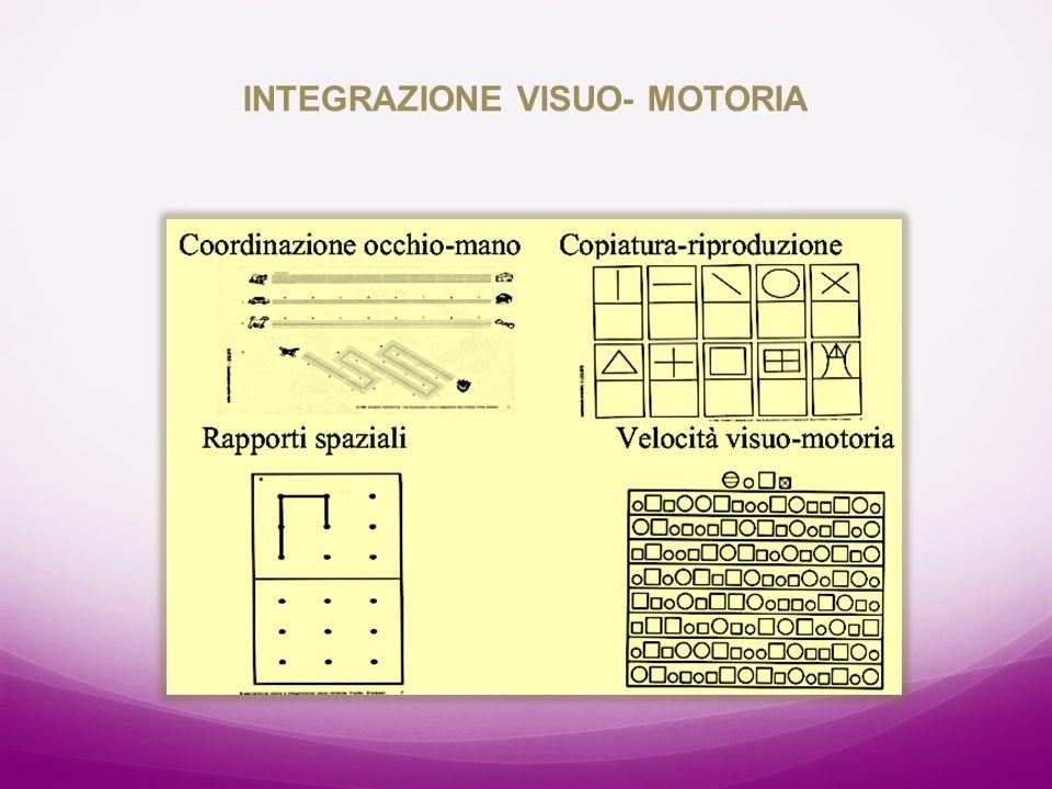 INTEGRAZIONE VISUO- MOTORIA