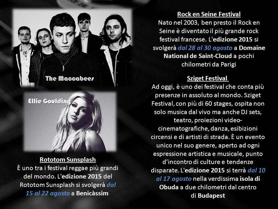Rock en Seine Festival Nato nel 2003, ben presto il Rock en Seine è diventato il più grande rock festival francese.