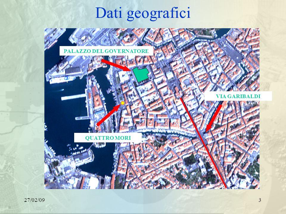 27/02/093 Dati geografici PALAZZO DEL GOVERNATORE VIA GARIBALDI QUATTRO MORI
