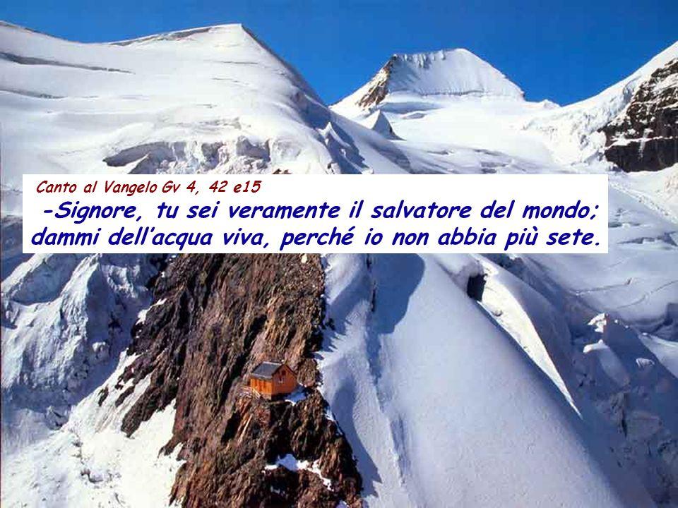 Canto al Vangelo Gv 4, 42 e15 -Signore, tu sei veramente il salvatore del mondo; dammi dell'acqua viva, perché io non abbia più sete.