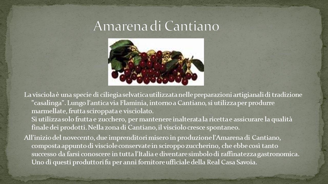 La visciola è una specie di ciliegia selvatica utilizzata nelle preparazioni artigianali di tradizione casalinga .