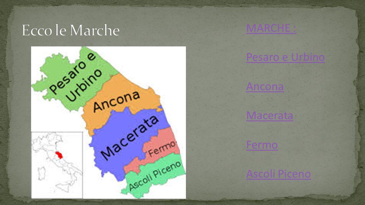 MARCHE : Pesaro e Urbino Ancona Macerata Fermo Ascoli Piceno