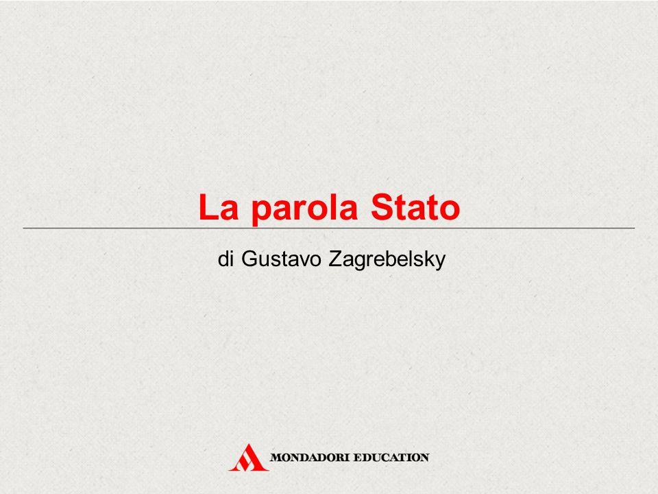 La parola Stato di Gustavo Zagrebelsky
