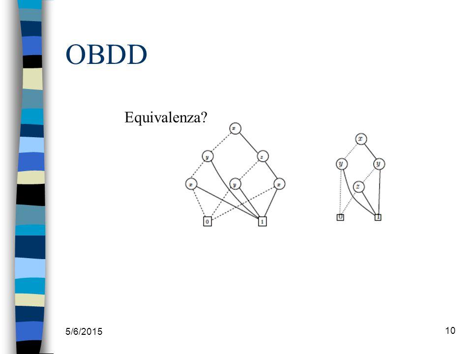 5/6/2015 10 OBDD Equivalenza?