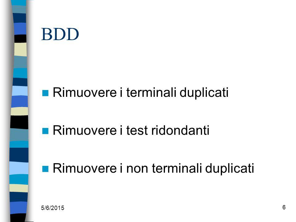 5/6/2015 7 BDD costanti variabili