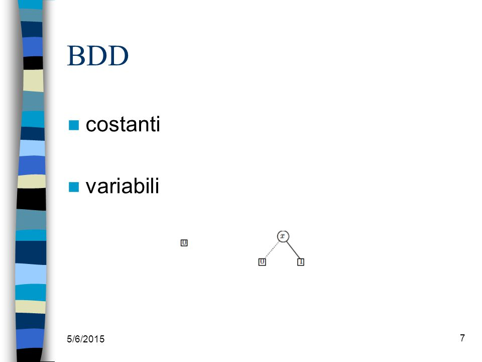 5/6/2015 7 BDD costanti variabili