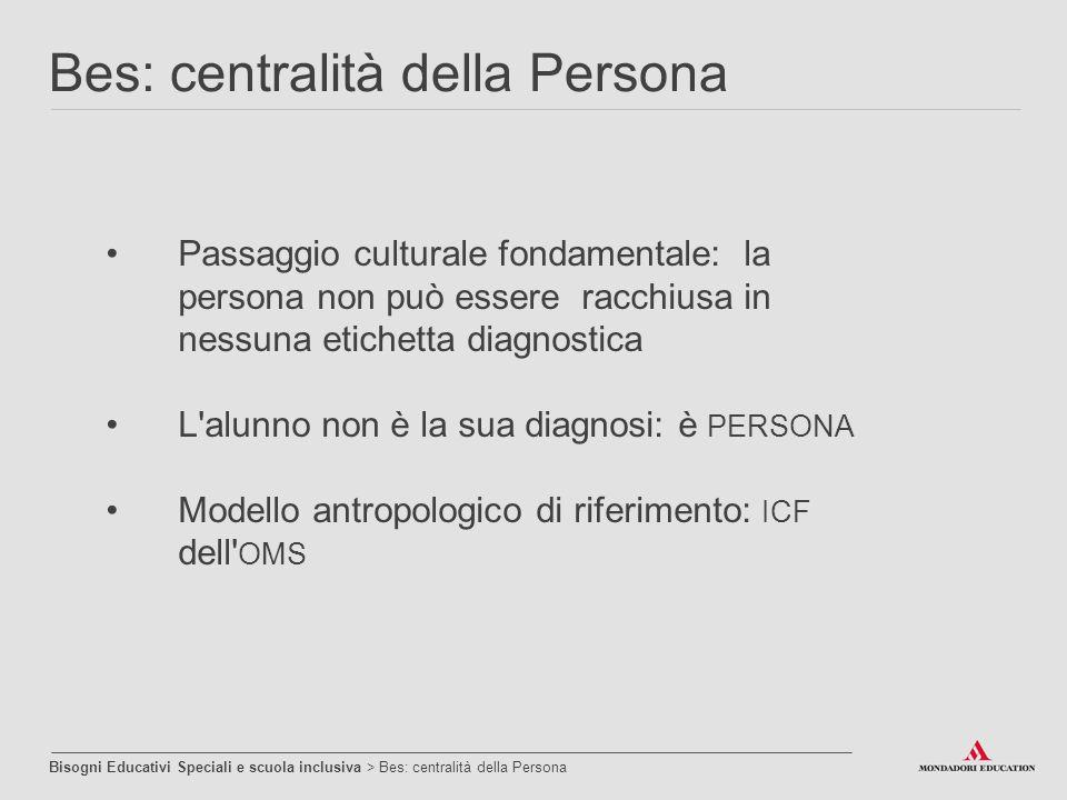 Passaggio culturale fondamentale: la persona non può essere racchiusa in nessuna etichetta diagnostica L'alunno non è la sua diagnosi: è PERSONA Model
