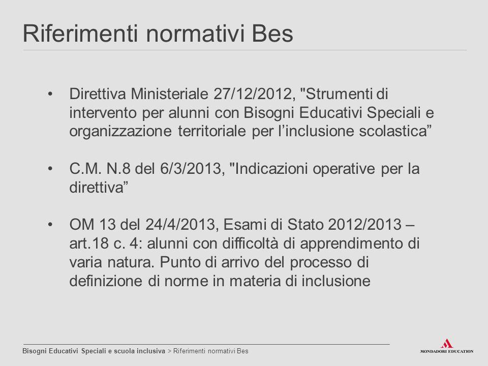 Direttiva Ministeriale 27/12/2012,