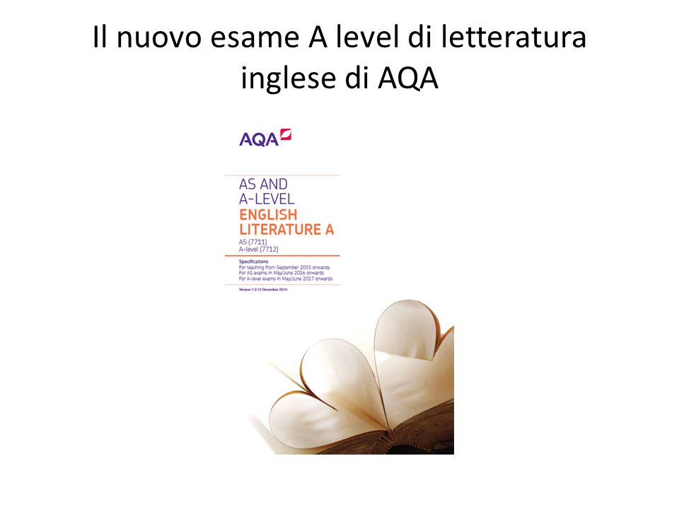 Il nuovo esame A level di letteratura inglese di AQA