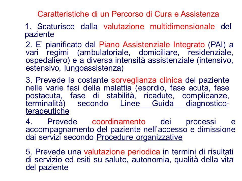 Caratteristiche di un Percorso di Cura e Assistenza 1.