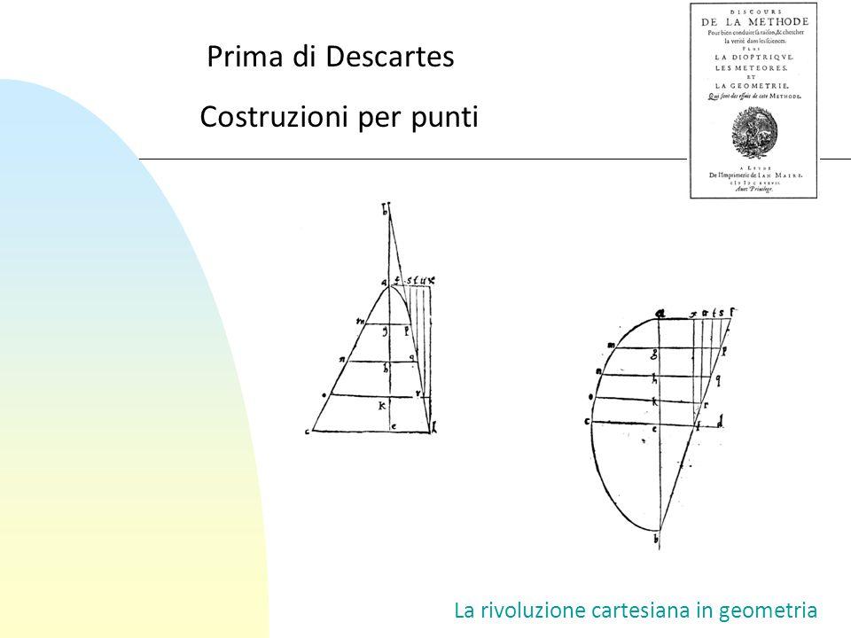La rivoluzione cartesiana in geometria Costruzioni per punti Prima di Descartes