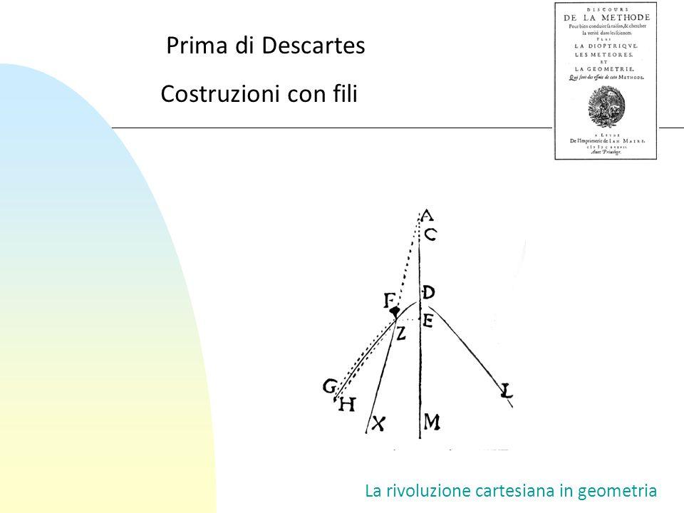 La rivoluzione cartesiana in geometria Costruzioni con fili Prima di Descartes