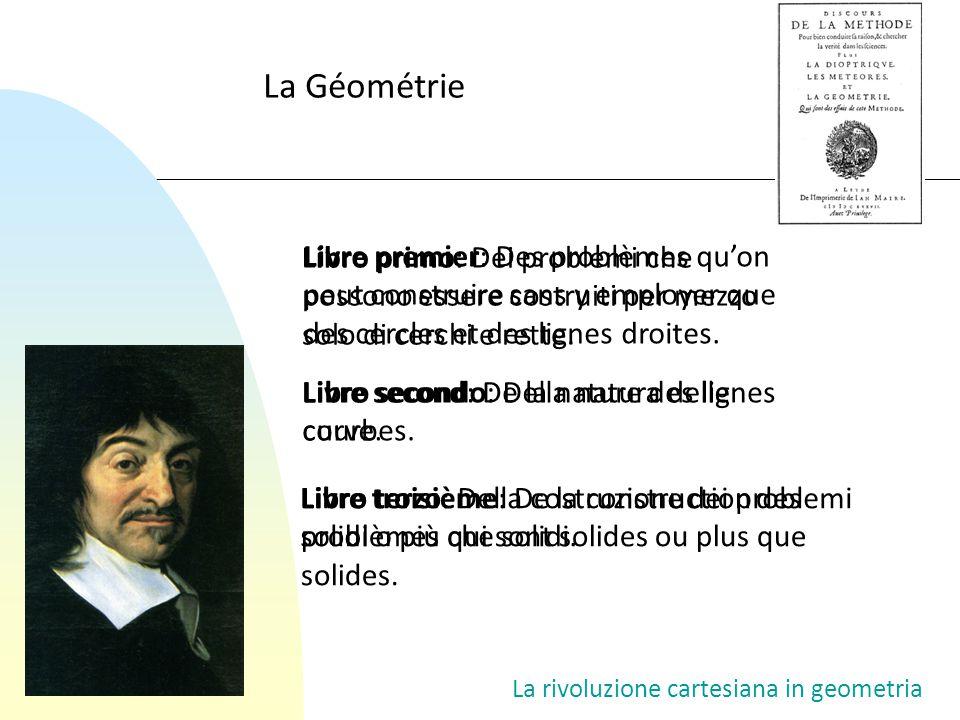 La rivoluzione cartesiana in geometria Libro primo: Soluzione geometrica (con riga e compasso) delle equazioni di secondo grado.
