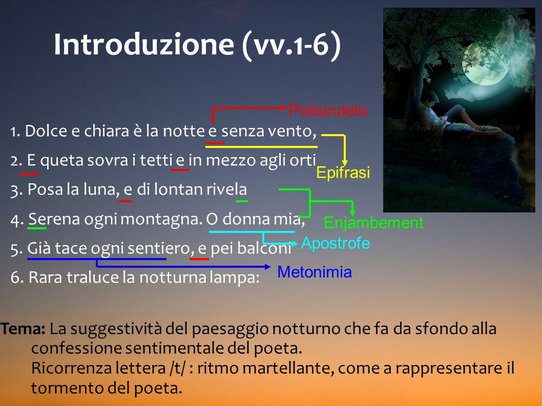 Gli Idilli Tematiche: intime e autobiografiche (vv.