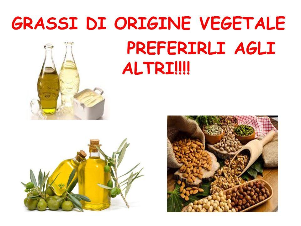 GRASSI DI ORIGINE VEGETALE PREFERIRLI AGLI ALTRI!!!!