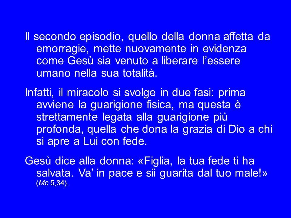 San Girolamo commenta queste parole, sottolineando la potenza salvifica di Gesù: «Fanciulla, alzati per me: non per merito tuo, ma per la mia grazia.