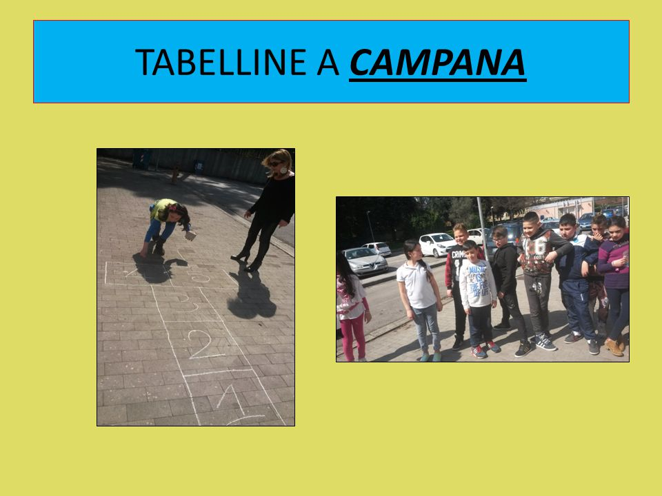 TABELLINE A CAMPANA