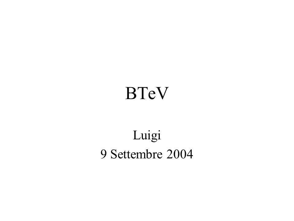 BTeV Luigi 9 Settembre 2004
