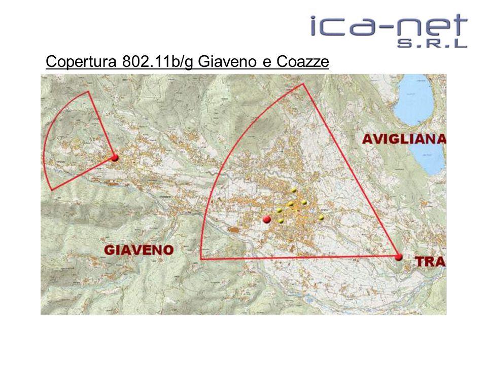 Copertura 802.11b/g Giaveno e Coazze