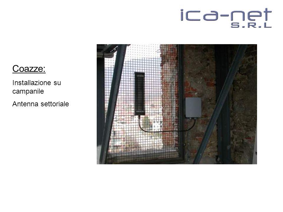 Coazze: Installazione su campanile Antenna settoriale