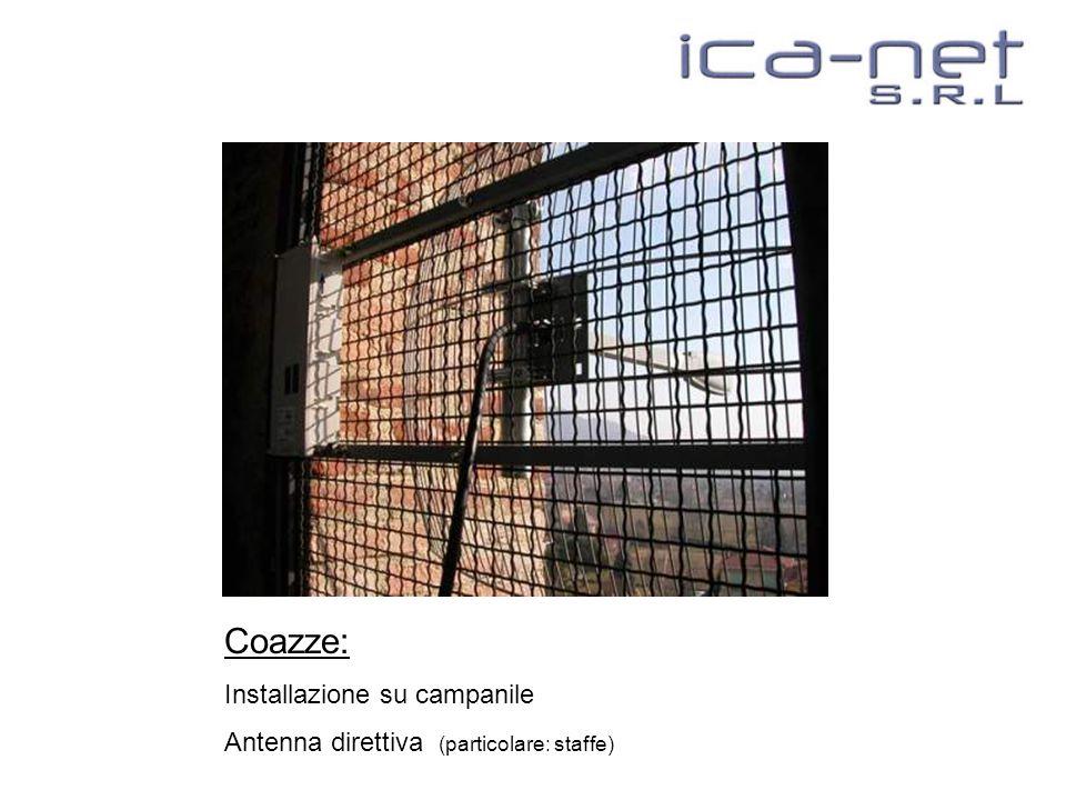 Coazze: Installazione su campanile Antenna direttiva (particolare: staffe)
