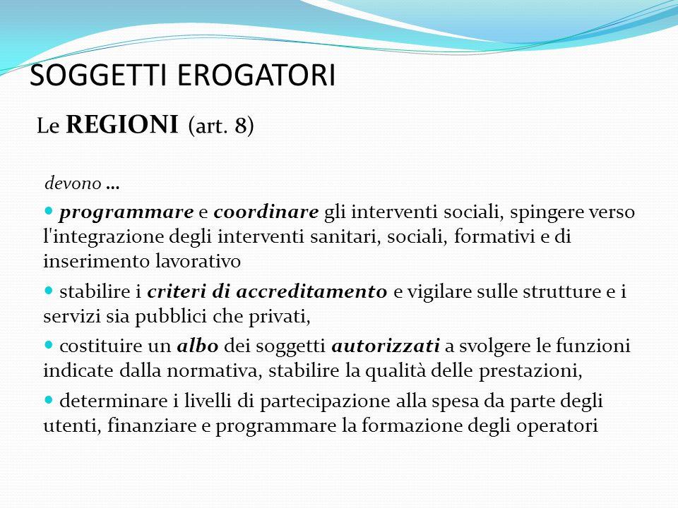 SOGGETTI EROGATORI i COMUNI (art.