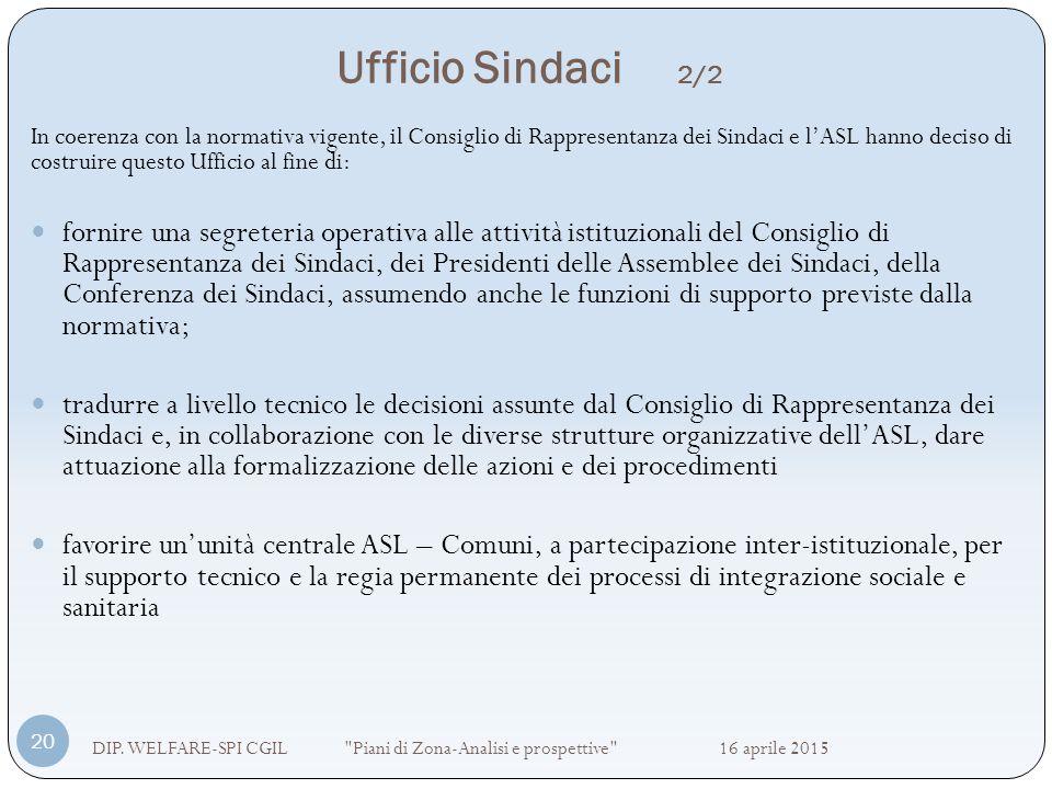 Ufficio Sindaci 2/2 DIP. WELFARE-SPI CGIL