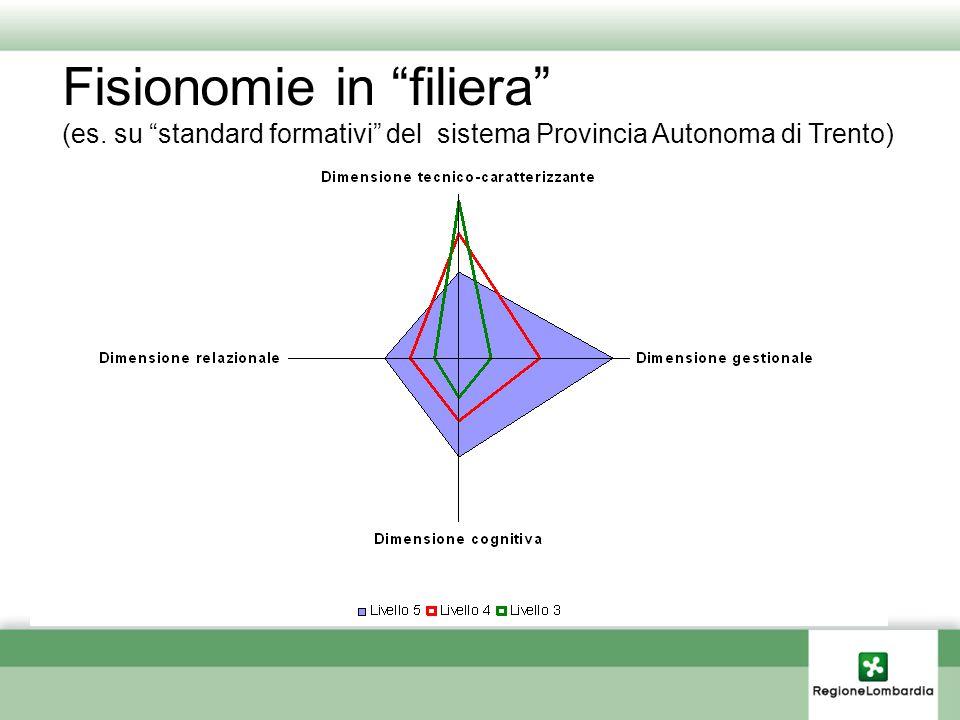 """Fisionomie in """"filiera"""" (es. su """"standard formativi"""" del sistema Provincia Autonoma di Trento)"""