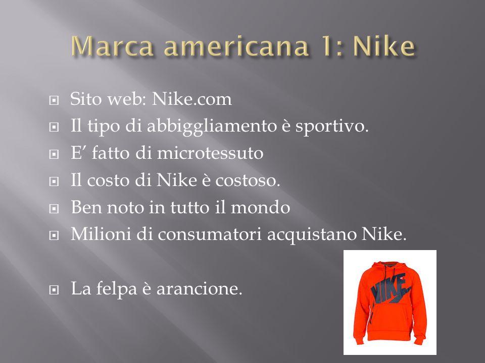  Sito web: Nike.com  Il tipo di abbiggliamento è sportivo.