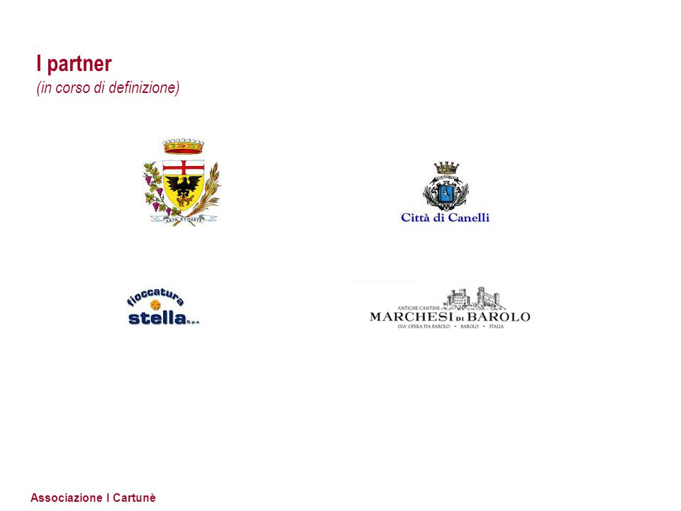 Associazione I Cartunè I partner (in corso di definizione)