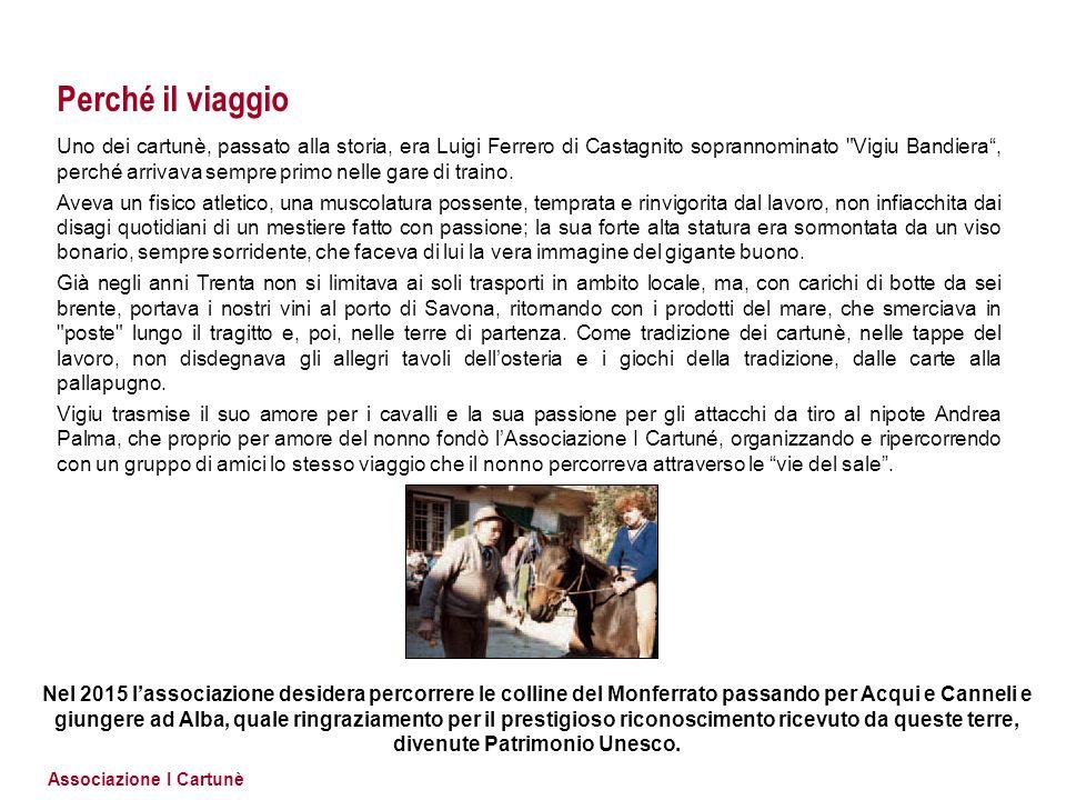 Associazione I Cartunè Perché il viaggio Uno dei cartunè, passato alla storia, era Luigi Ferrero di Castagnito soprannominato