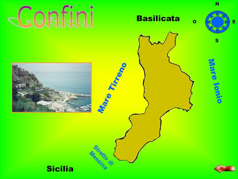 La Calabria è una regione dell'Italia meridionale. N O S E
