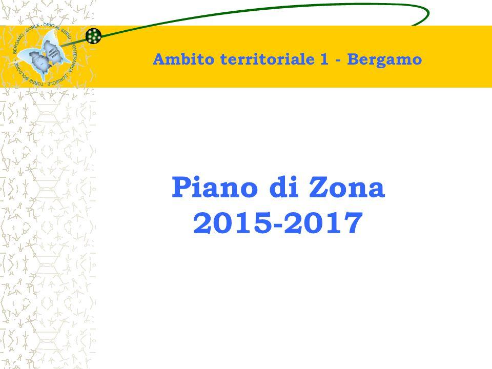 Ambito territoriale 1 - Bergamo: Comuni di Bergamo, Gorle, Orio Al Serio, Ponteranica, Sorisole, Torre Boldone L'Ambito Territoriale 1 - Bergamo ha una struttura socio-demografica a vocazione urbana ad alta densità abitativa soprattutto per la presenza del Comune capoluogo (abitanti 121.137).
