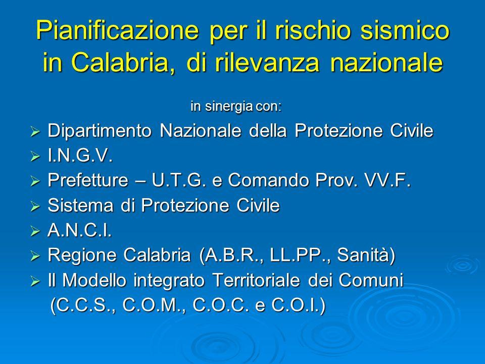 Alla scala a cui la Regione Calabria si pone, risulta evidente la scarsa significatività del singolo scenario rispetto al quadro generale della pericolosità.