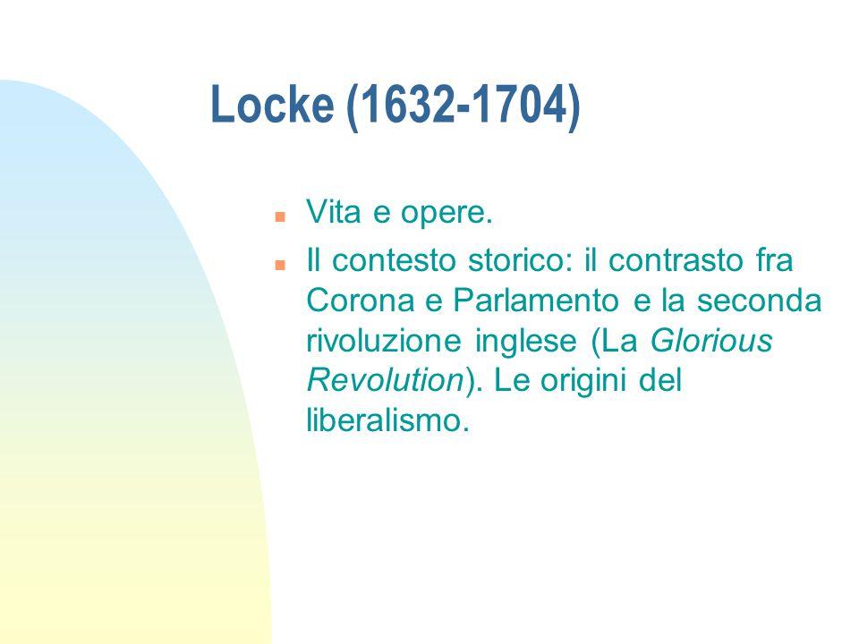 Locke (1632-1704) n Vita e opere.
