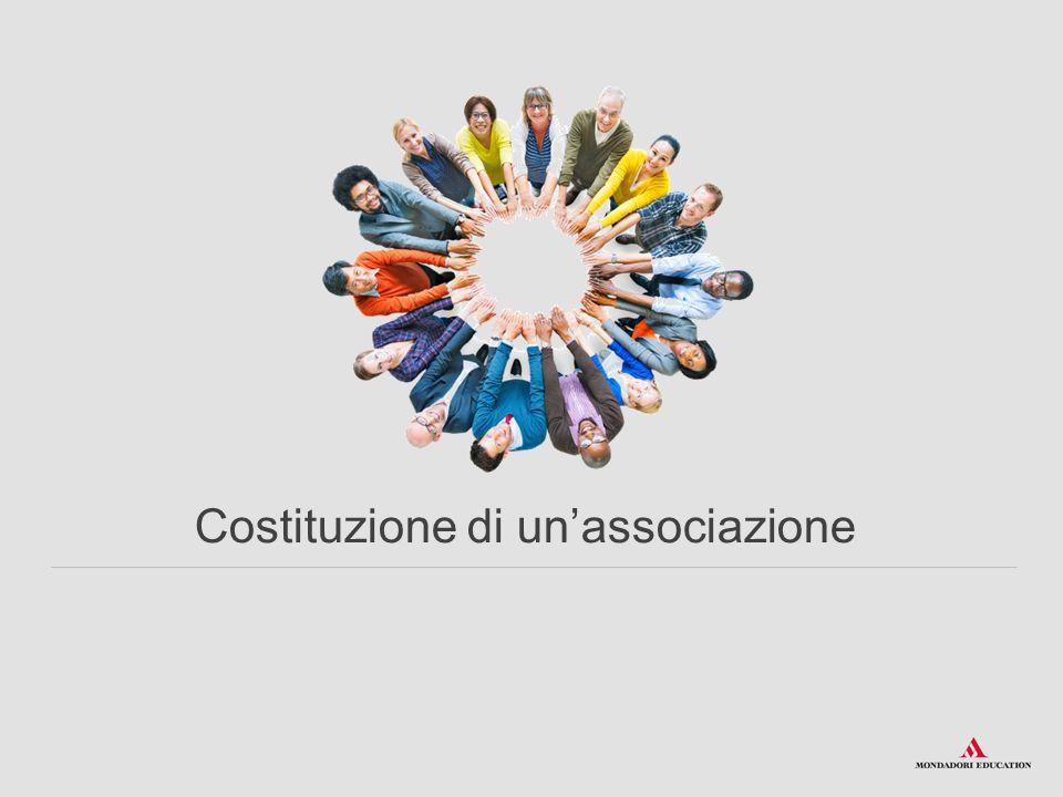 Costituzione di un'associazione