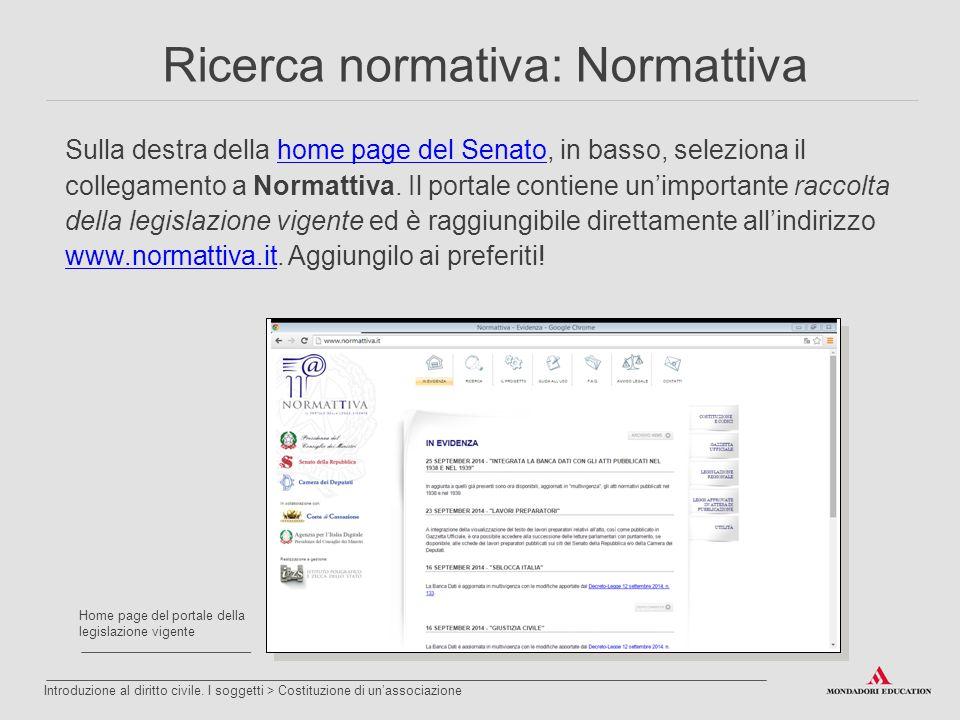 Sulla destra della home page del Senato, in basso, seleziona il collegamento a Normattiva. Il portale contiene un'importante raccolta della legislazio